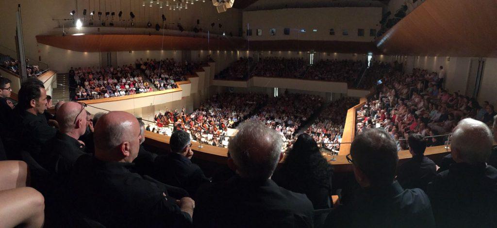 Panorámica del Palau durante el concierto